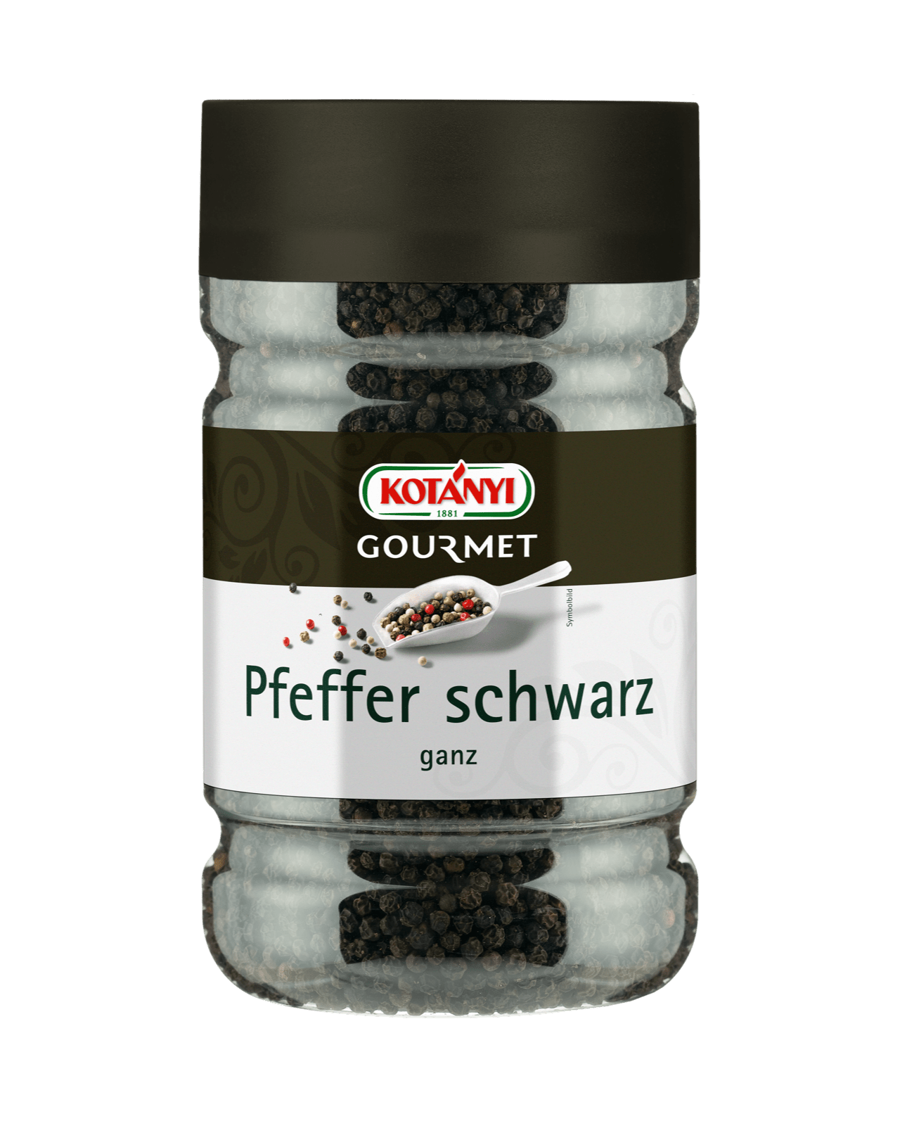 Kotanyi Gourmet Pfeffer schwarz ganz in der 1200ccm Dose