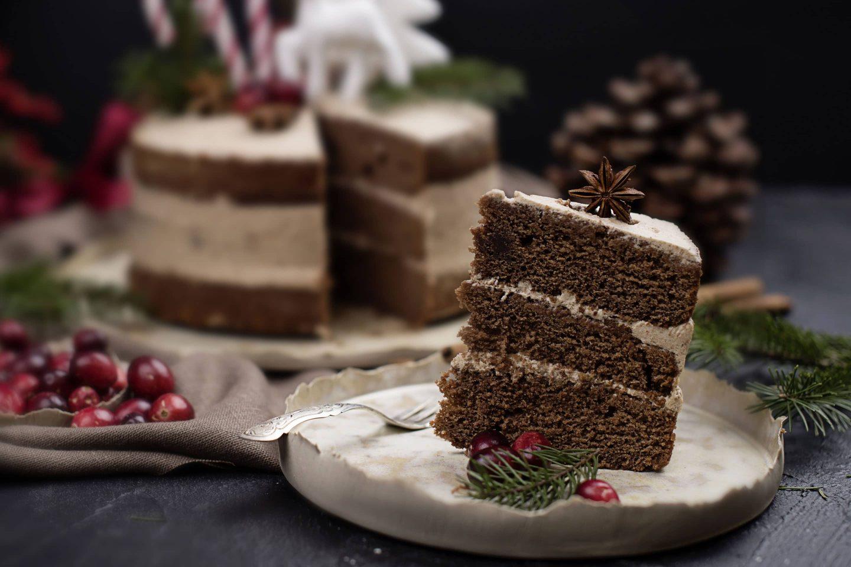 Honniglebkuchen Naked Cake mit Zimt und Vanille