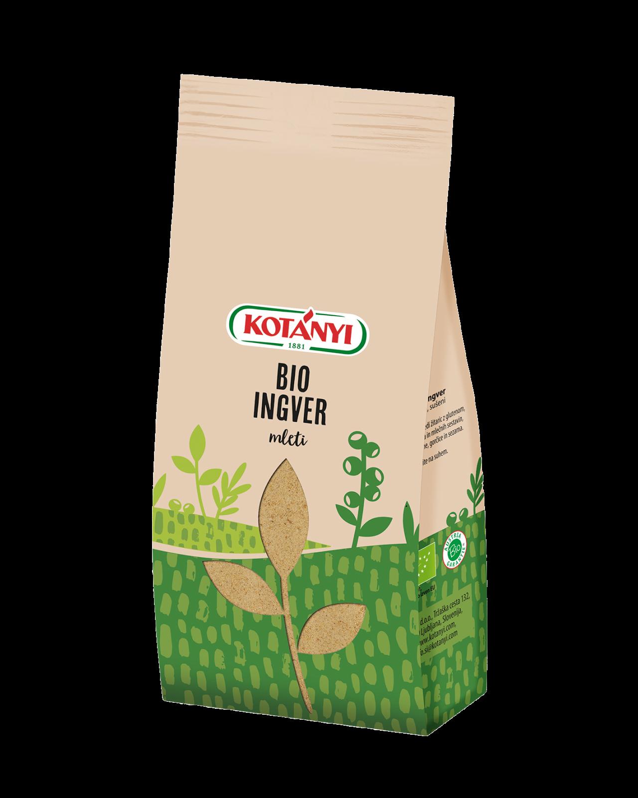 051906 Kotanyi Bio Ingver Mleti Stock Bag S