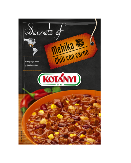 345406 Kotanyi Secrets Of Mehika Chilli Con Carne B2c Pouch
