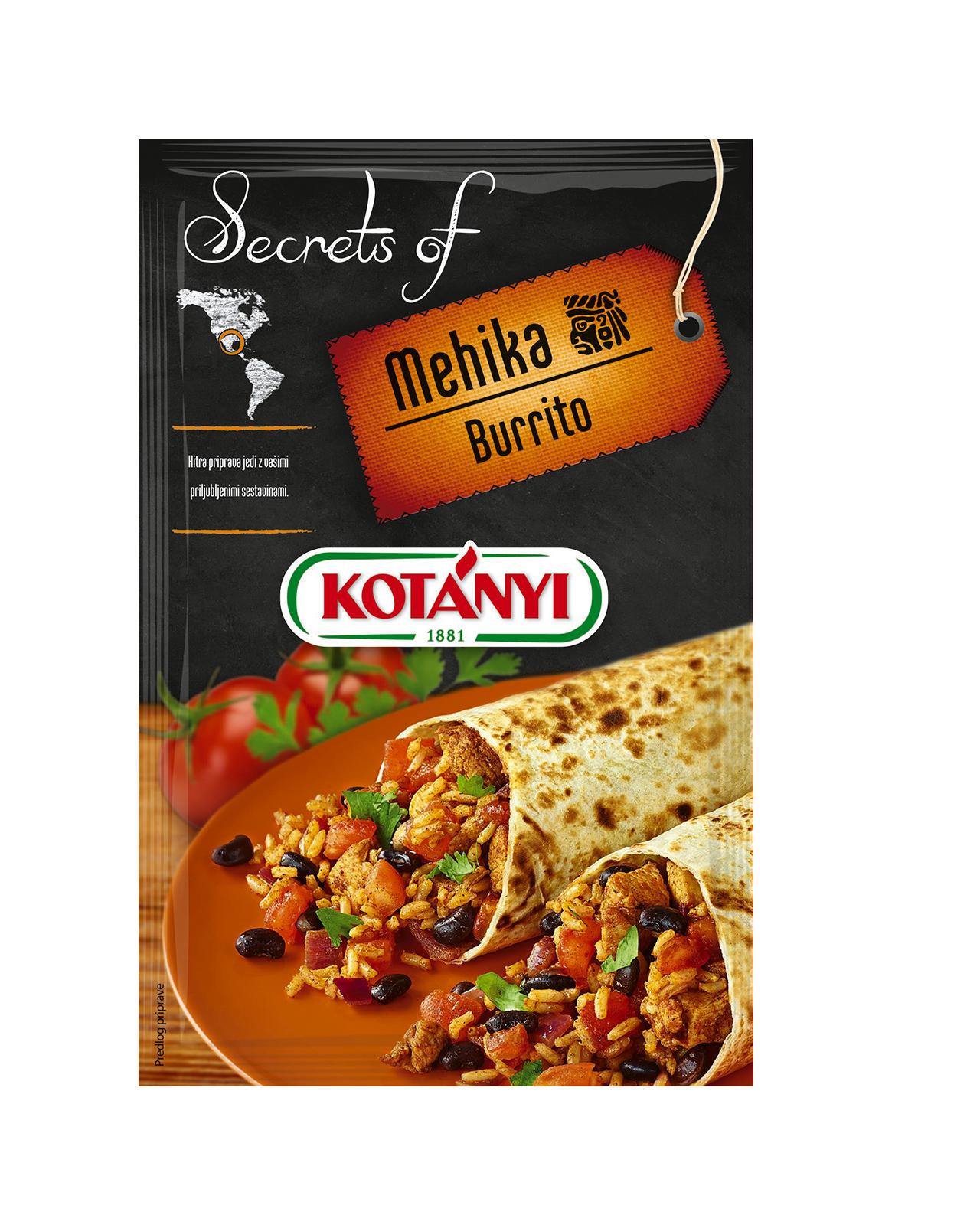 350006 Kotanyi Secrets Of Mehika Burrito B2c Pouch