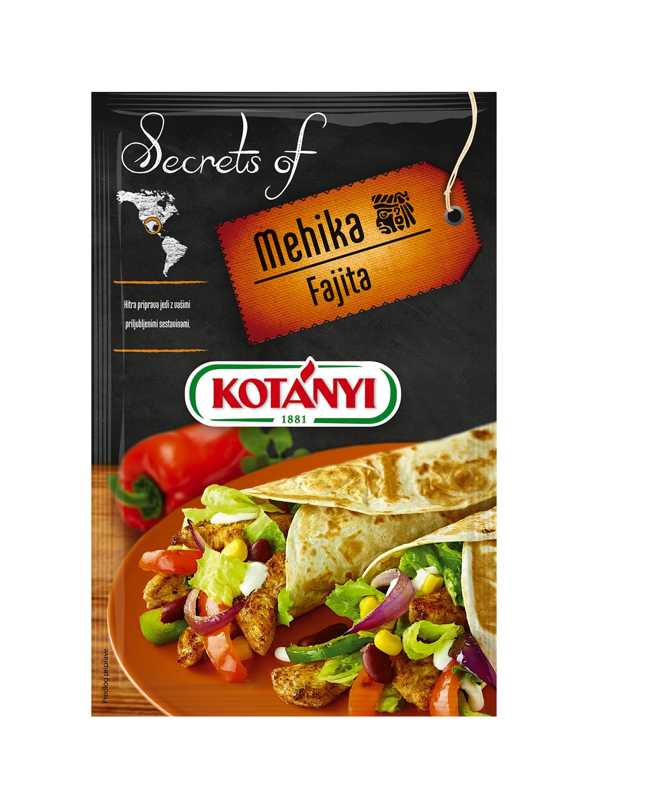 350106 Kotanyi Secrets Of Mehika Fajita B2c Pouch