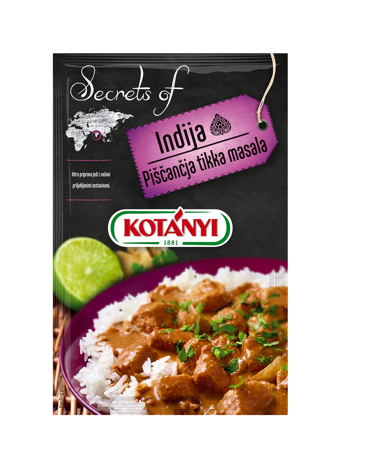 354906 Kotanyi Secrets Of Indija Piscancja Tikka Masala B2c Pouch