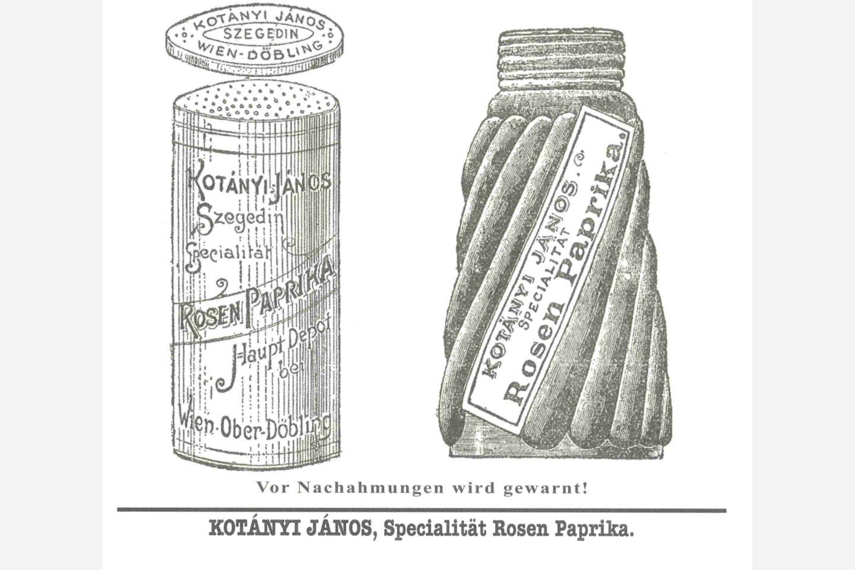 Doza za papriko Kotányi iz leta 1900