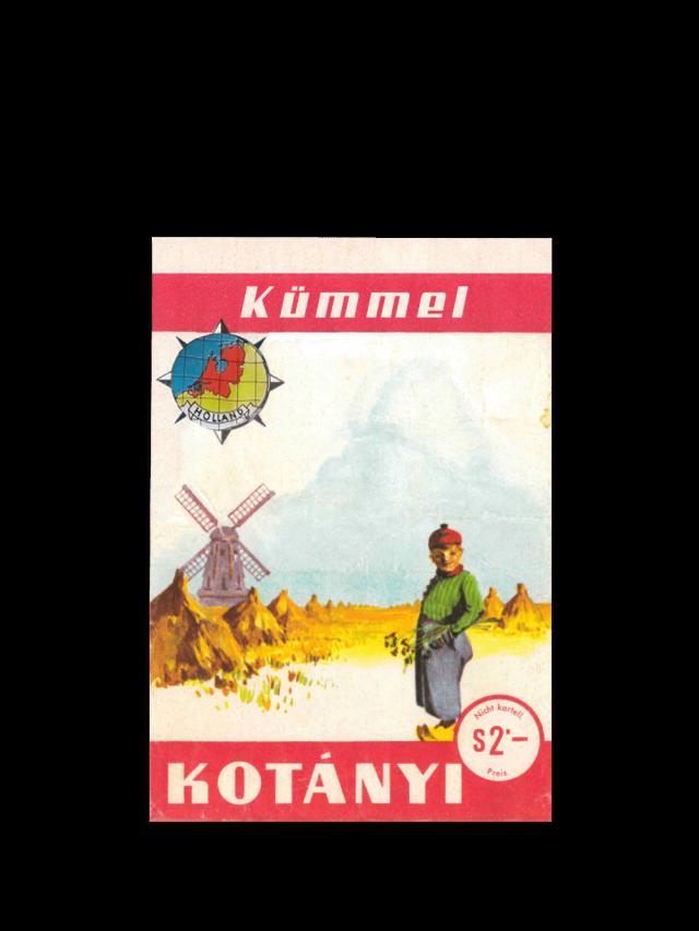 Vrečka kumine Kotányi iz leta 1961.