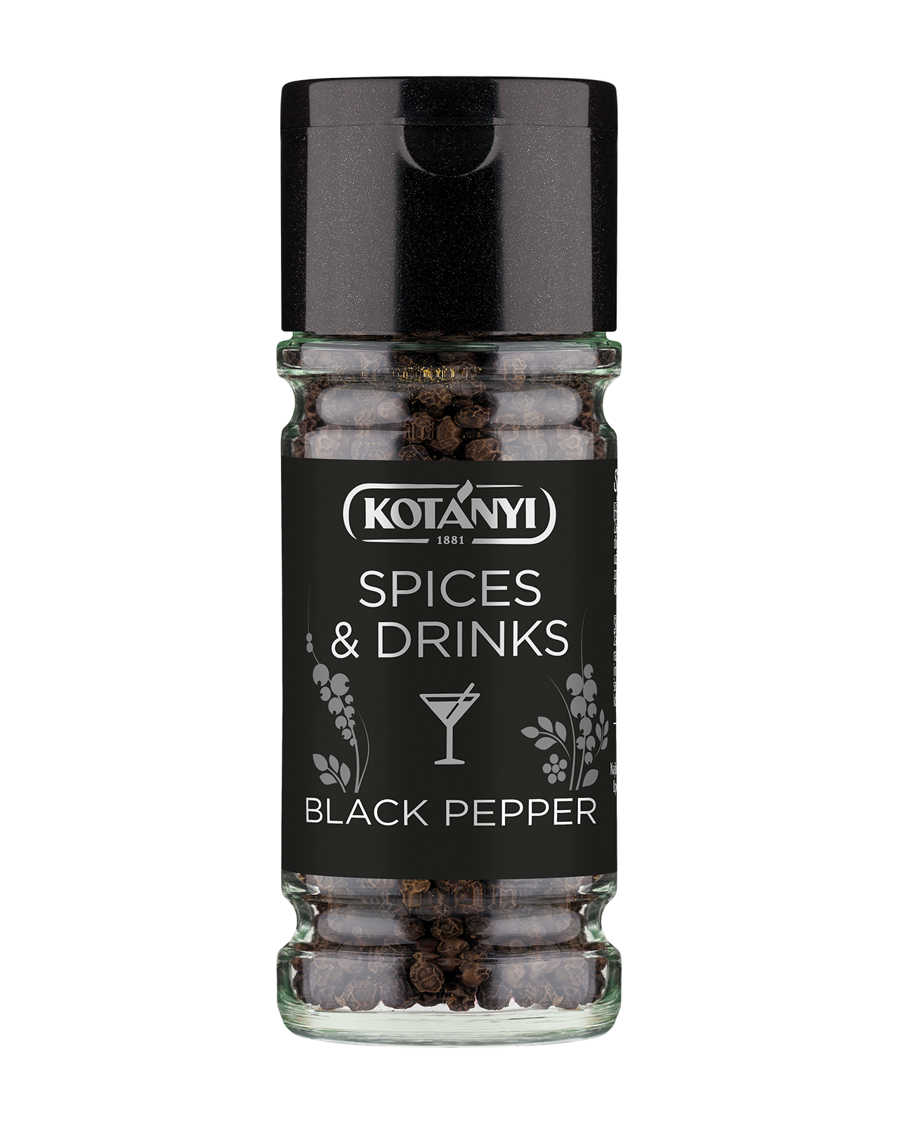 40390601 Kotanyi Spices & Drinks Poper Crni B2c Glass M